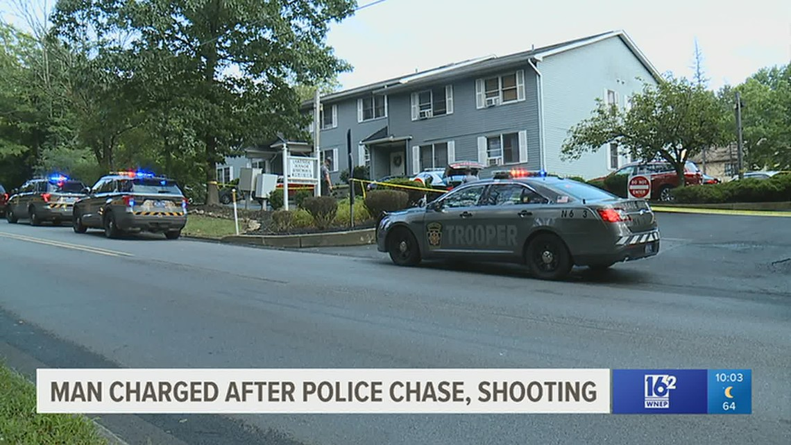 Suspect charged after chase, gunfire in the Poconos