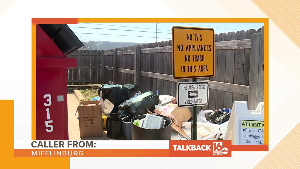 Talkback 16: Dumping at the recycling center