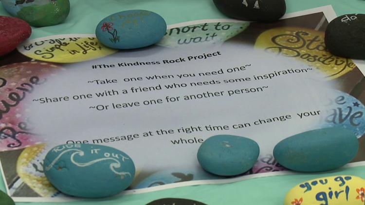 Kindness rocks at Hazleton Library