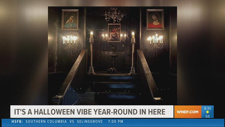 115-year-old church transformed into gothic home, becoming 'Halloween Central'
