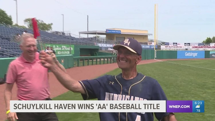 Schuylkill Haven was up 6-1 early and held on to defeat Shenango 8-7 to win the 'AA' HS baseball State title.