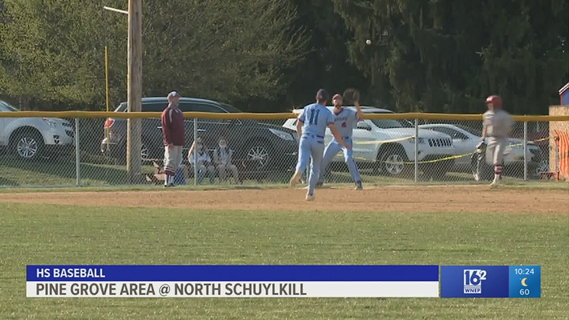 North Schuylkill hosts Pine Grove Area in HS baseball and softball.  Lady Spartans won 10-1, while the boys were tied 6-6 when the game was suspended