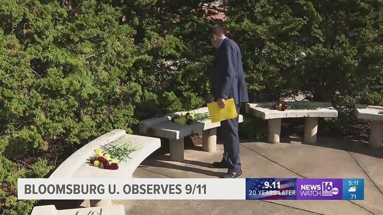 Somber observance of September 11 at Bloomsburg University