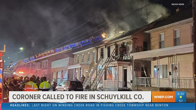 Coroner called to fire in Schuylkill County