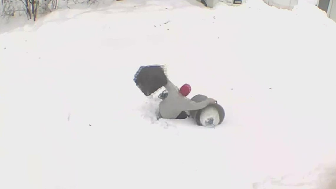Winter wipeouts caught on camera