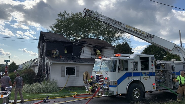 Home destroyed by flames in Columbia County