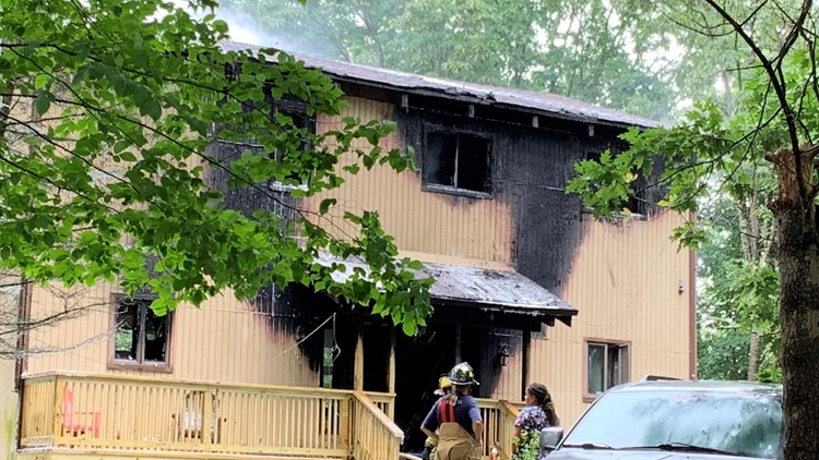 Home in Pike County damaged by flames