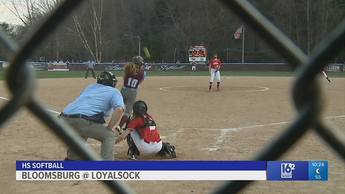 Loyalsock mercy-ruled Bloomsburg 12-1 in six innings in HS softball.
