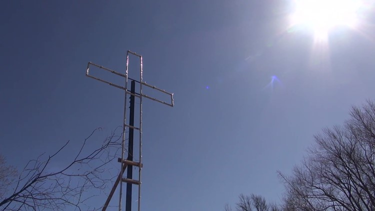 New cross reappears over Honesdale