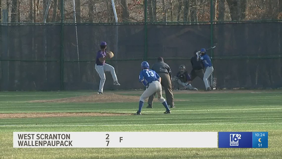 Wallenpaupack swims past West Scranton 7-2 in HS baseball.