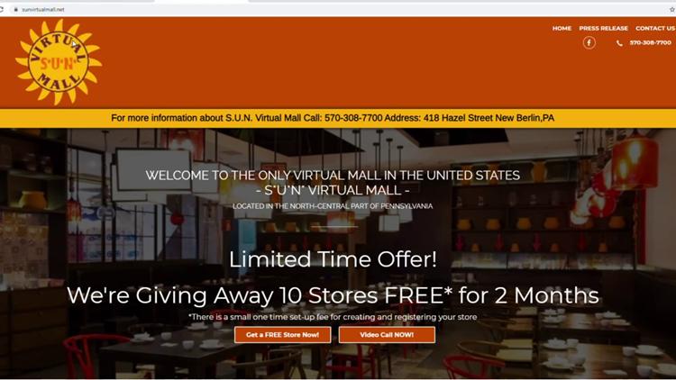 Virtual mall opens in central Pennsylvania