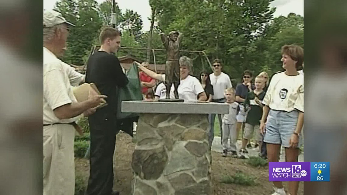 Hall of Famer Christy Mathewson cast in bronze: Back Down The Pennsylvania Road