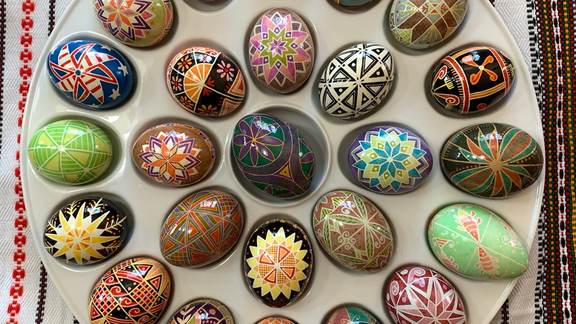 Pysanky eggs on the Pennsylvania Road
