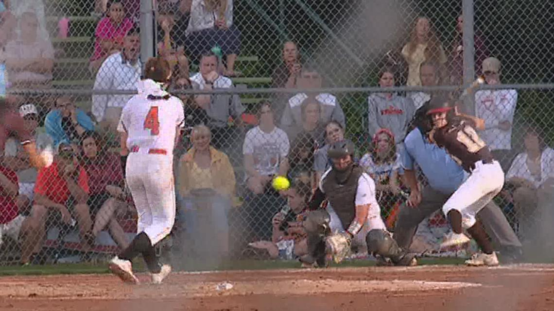 Kaya Hannon tossed a two hitter as Tunkhannock tamed Beth. Catholic, 5-1, in the State 'AAAA' softball semi-finals.