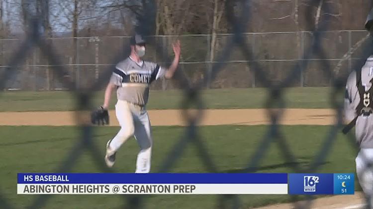 Abington Heights handled Scranton Prep 11-0 in HS softball, and 8-1 in HS baseball.