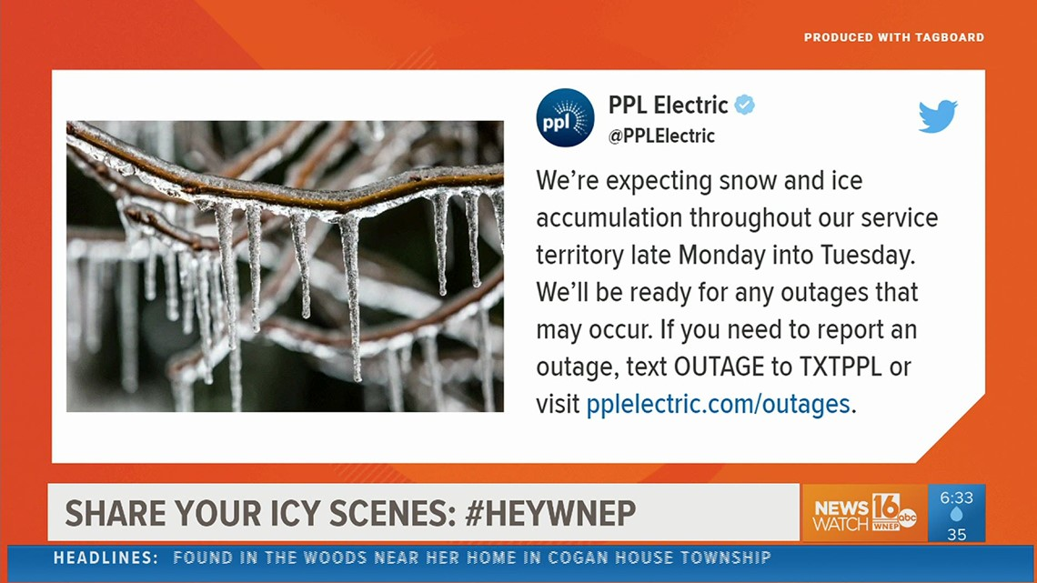 Wintry weather causes some power outages