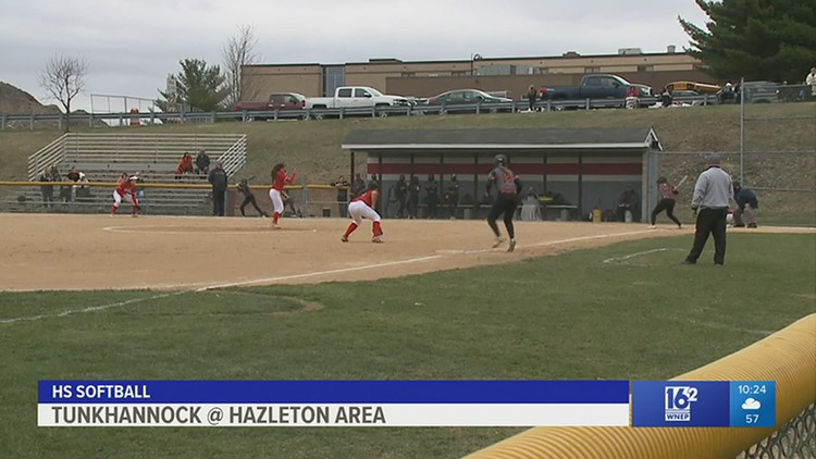 Tunkhannock slugs Hazleton Area 9-5 in HS Softball