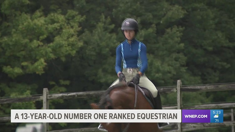 13-year-old girl from Palmerton top-ranked junior equestrian in U.S.