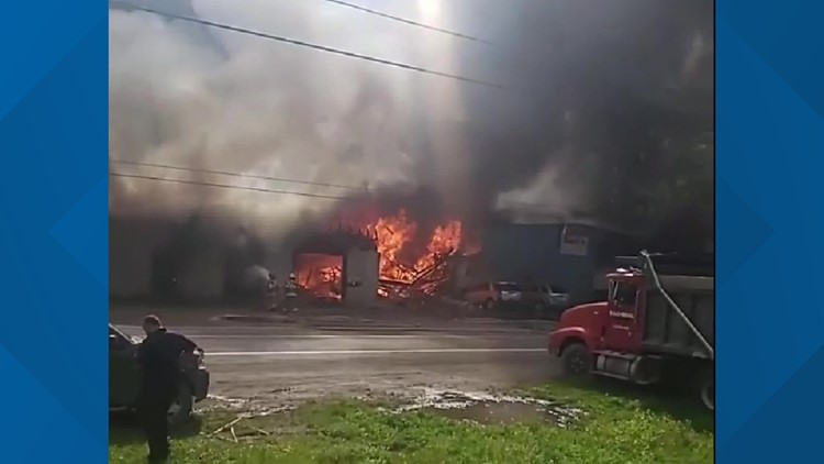 Flames rip garage in Susquehanna County