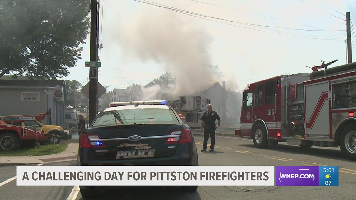 Smoky fire in Pittston