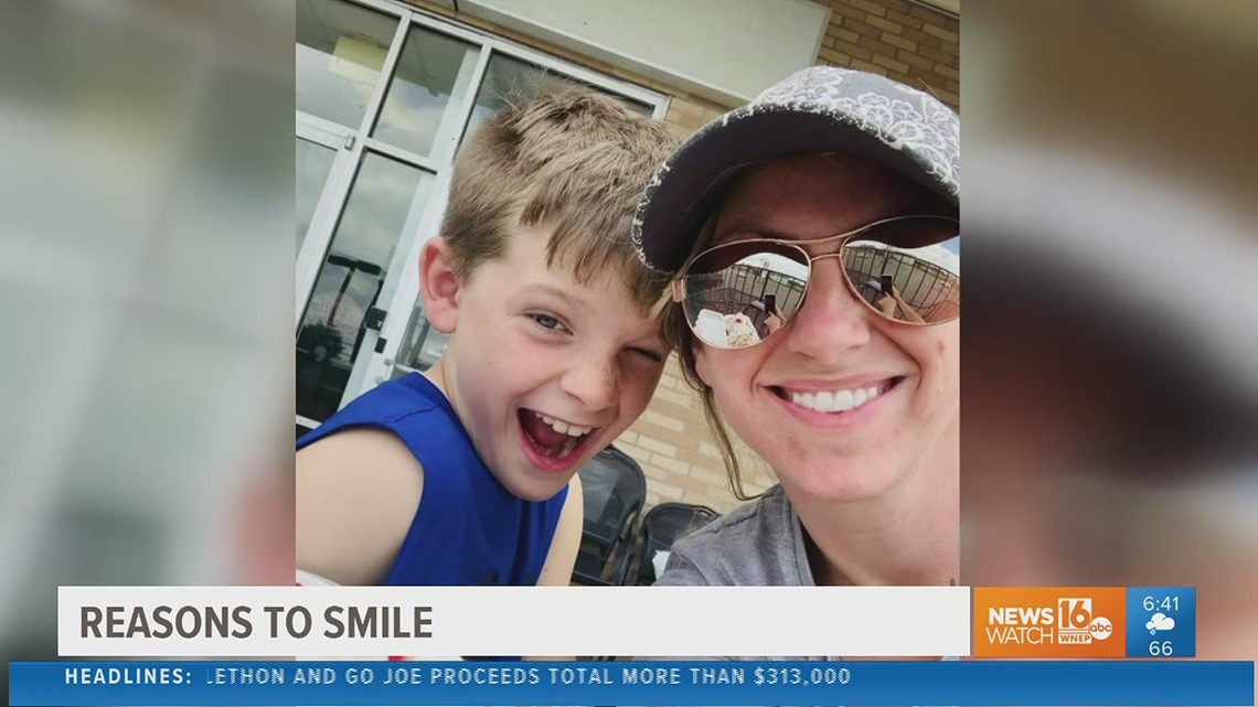 Reasons to smile: Mother-son duo create special tradition