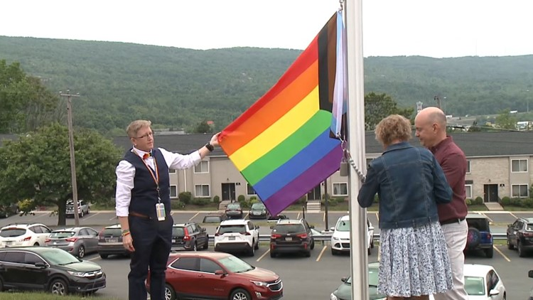 Pride flag raised at Wilkes-Barre VA Medical Center