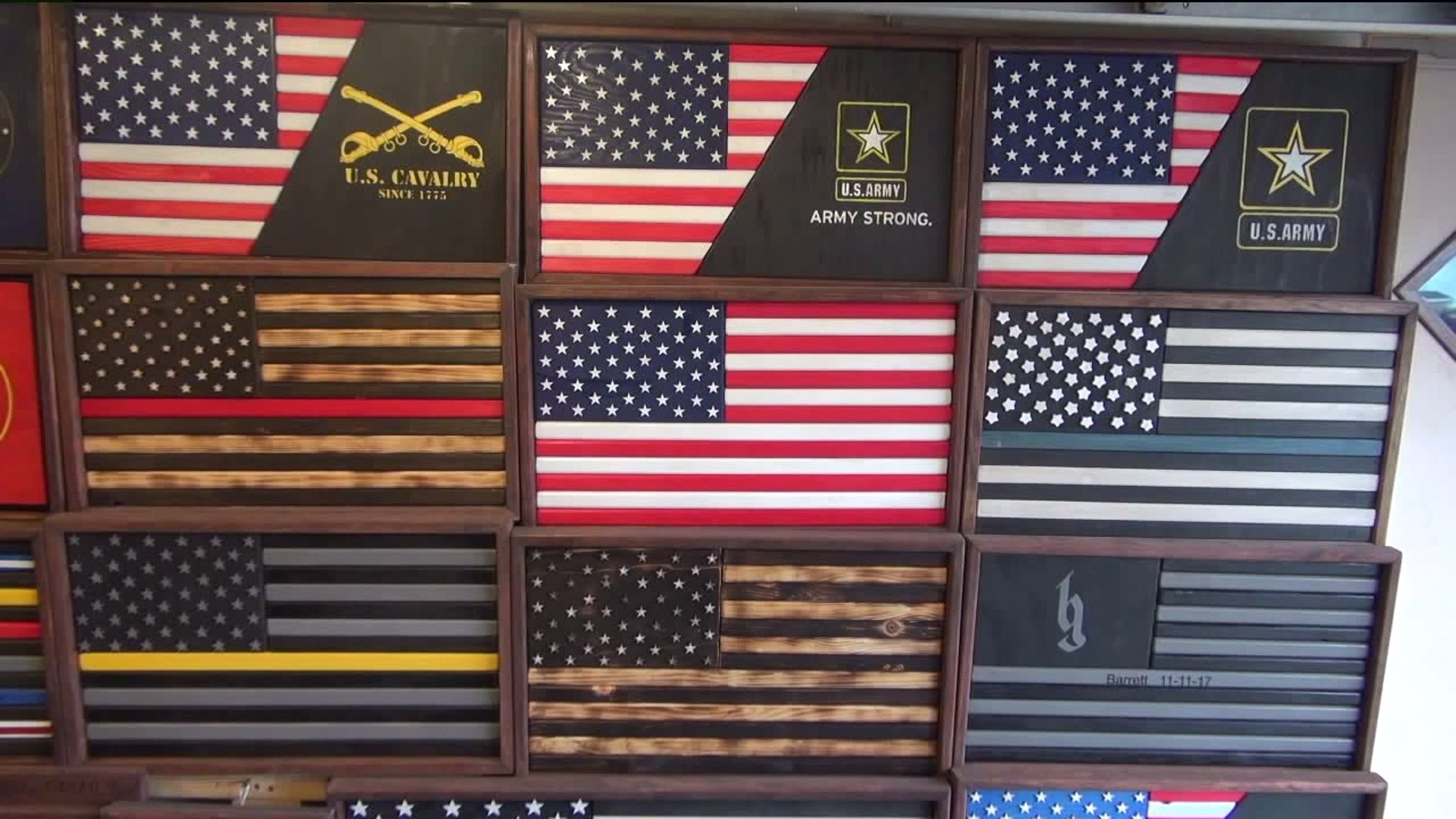 Old Forge Woodworker Building Custom-Made American Flags   wnep.com