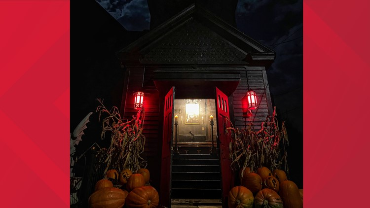 115-year-old church in Berwick transformed into gothic home, becoming 'Halloween Central'