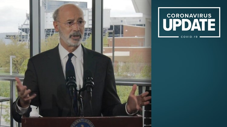 Gov. Wolf at Penn State urges college students to get vaccinated