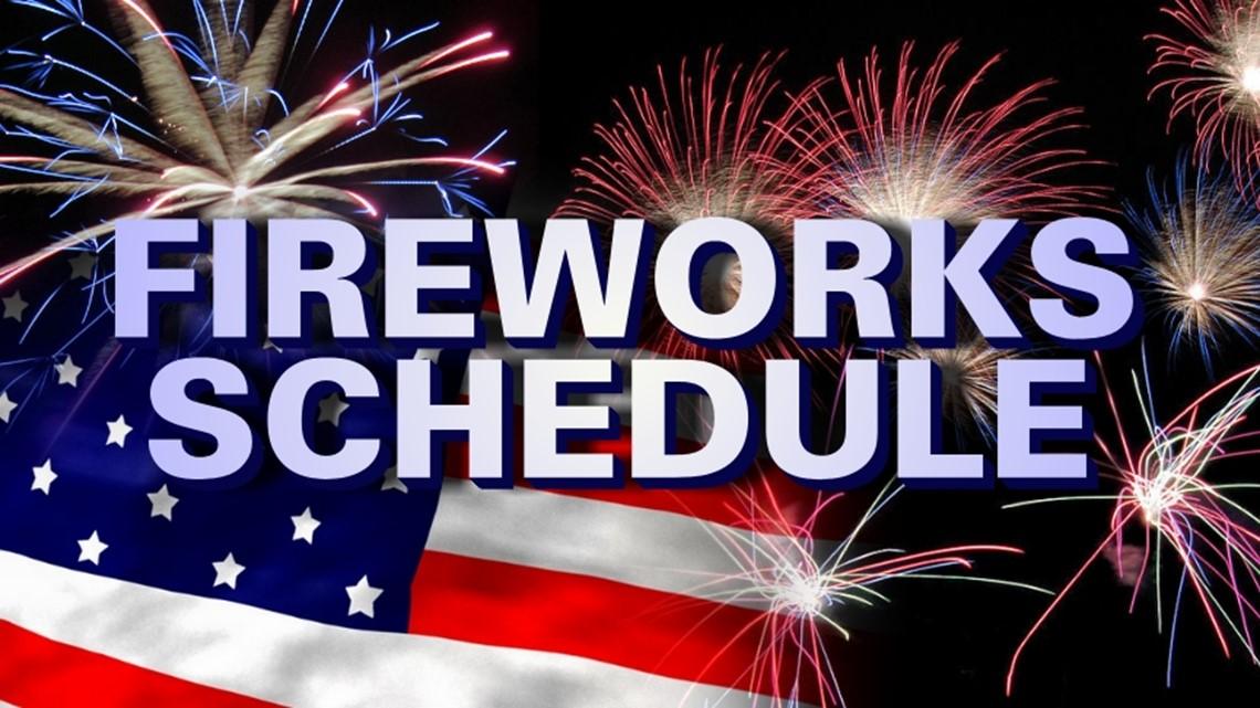2021 Fireworks Schedule