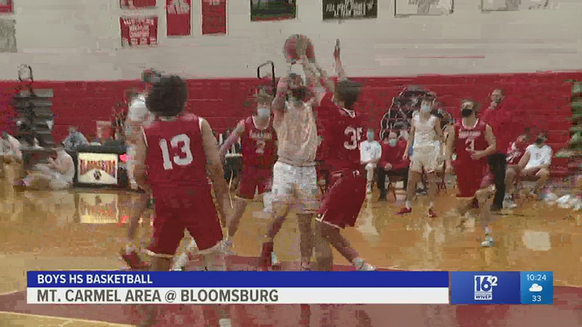 Bloomsburg rallies past Mt. Carmel Area 56-50 in boys HS basketball