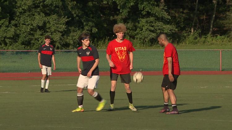 Soccer game fundraiser held for shooting victim