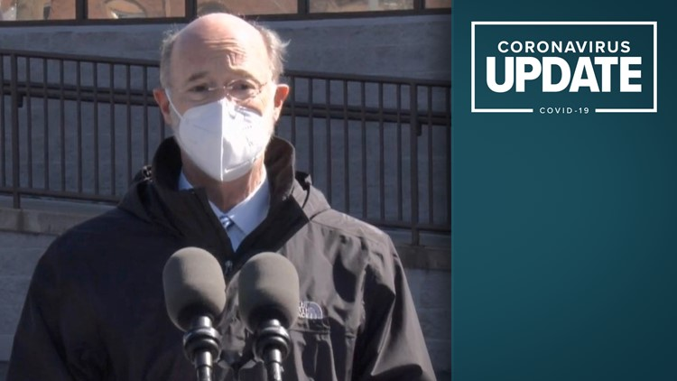Gov. Wolf visits vaccination, testing site