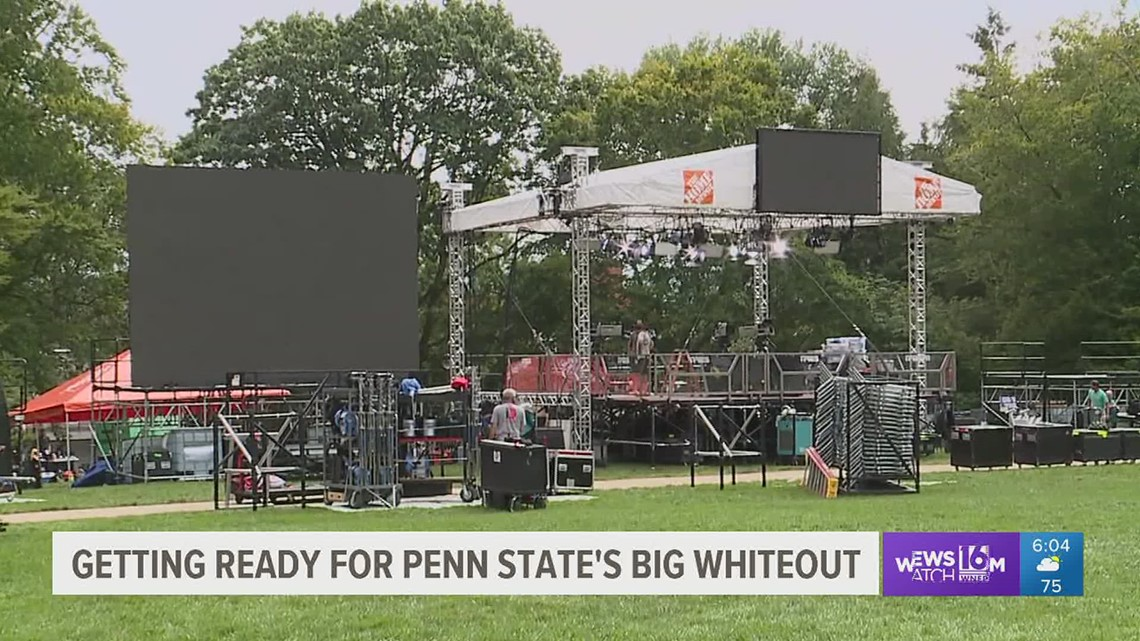 State college buzzing before big Penn State football weekend