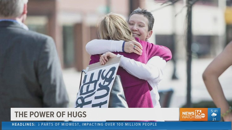 Reasons to Smile: the power of hugs