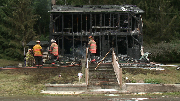 Pets killed in fire in Wyoming County