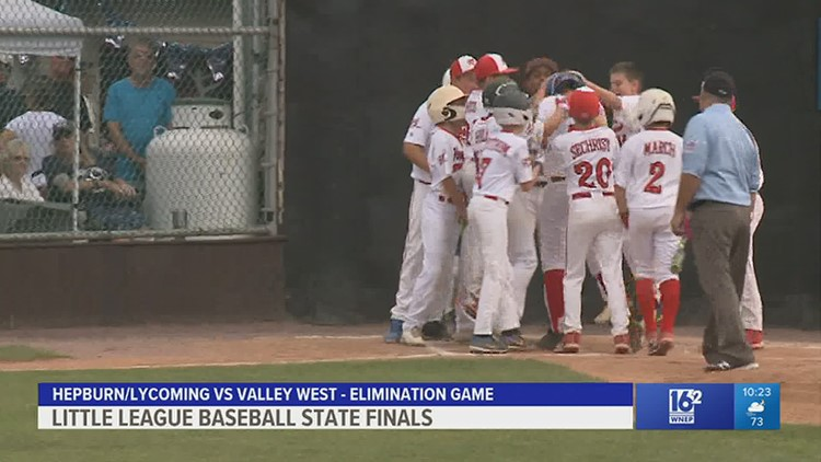 Hepburn/Lycoming defeated the host team from Valley West 7-5 in an elimination game at the State Little League Finals.