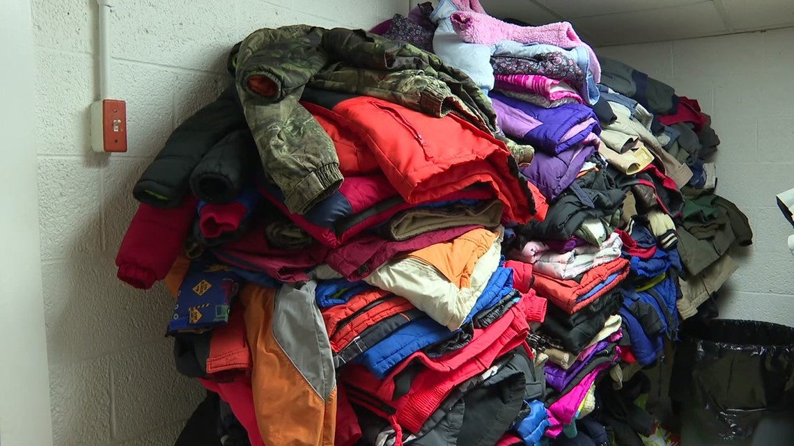 Collecting coats for the community