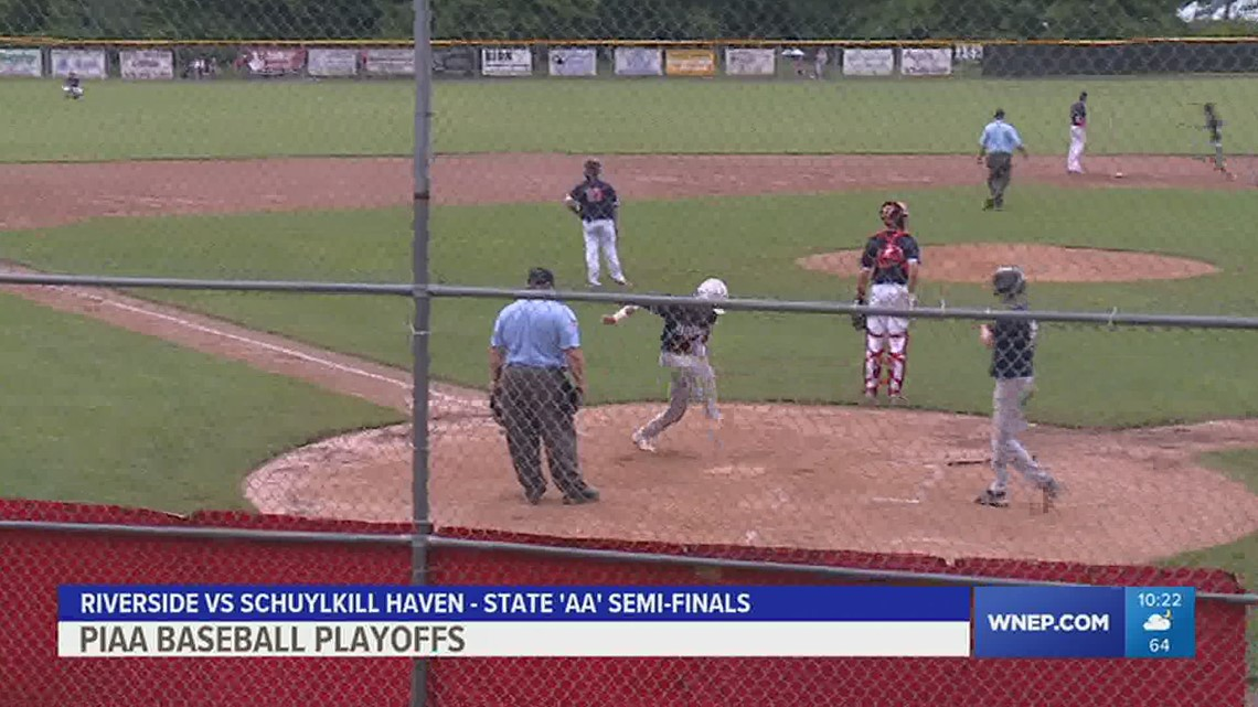 Schuylkill Haven outlasts Riverside, 8-7, to advance to the 'AA' HS baseball Finals.