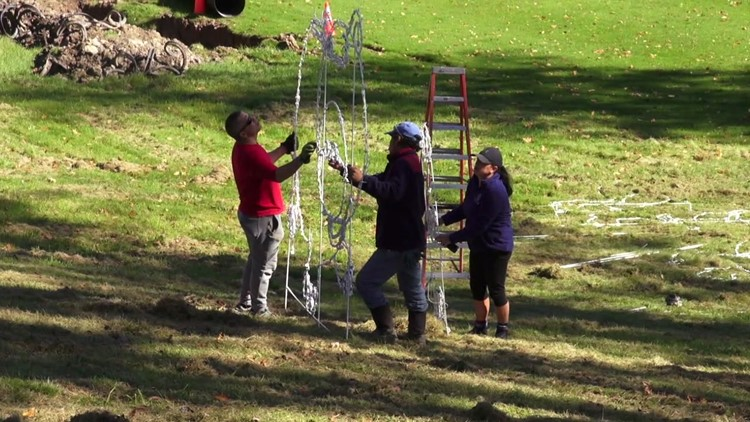 Crews prepare for Festival of Lights in Wyoming County