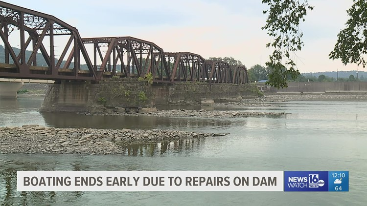 Boating ends early due to repairs on dam