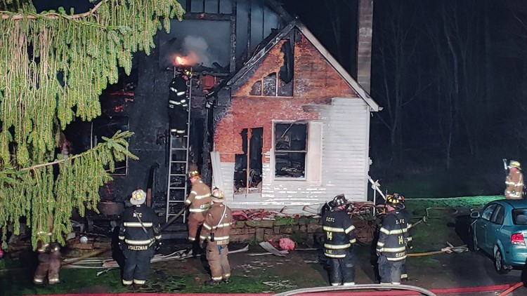 Fire destroys house in Schuylkill County