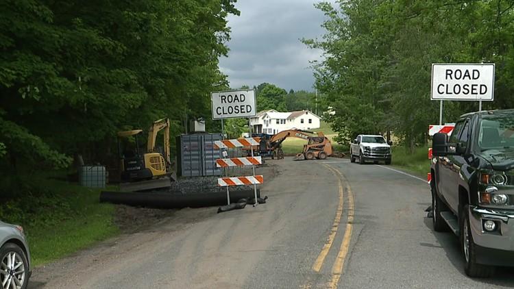 Emergency repairs close road in Wyoming County