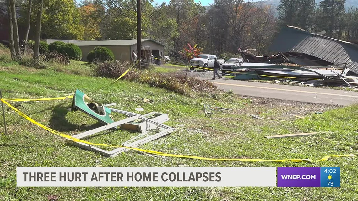 Three sent to hospital after home collapses in Columbia County