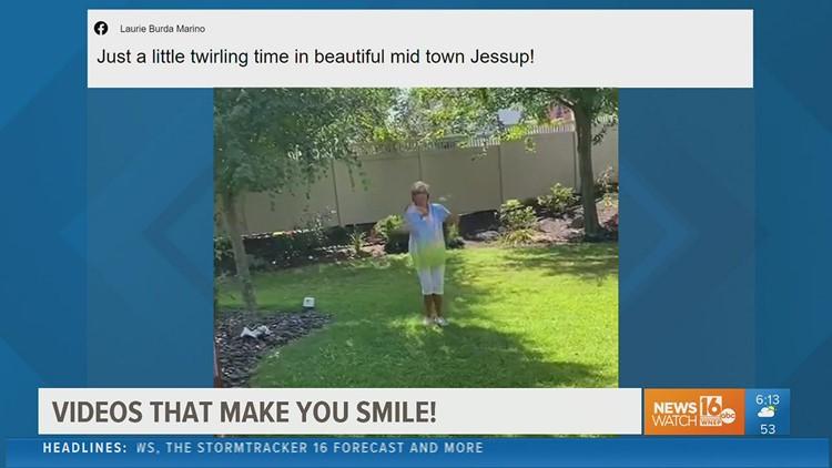 Reasons to smile: A fire baton twirlin' grandma