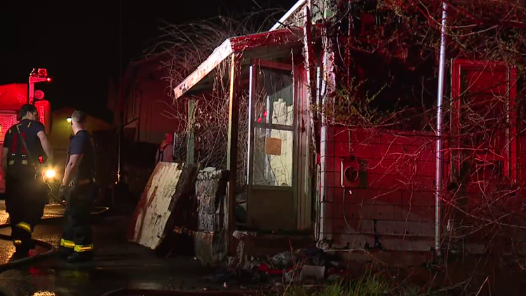Garage damaged by fire in Scranton
