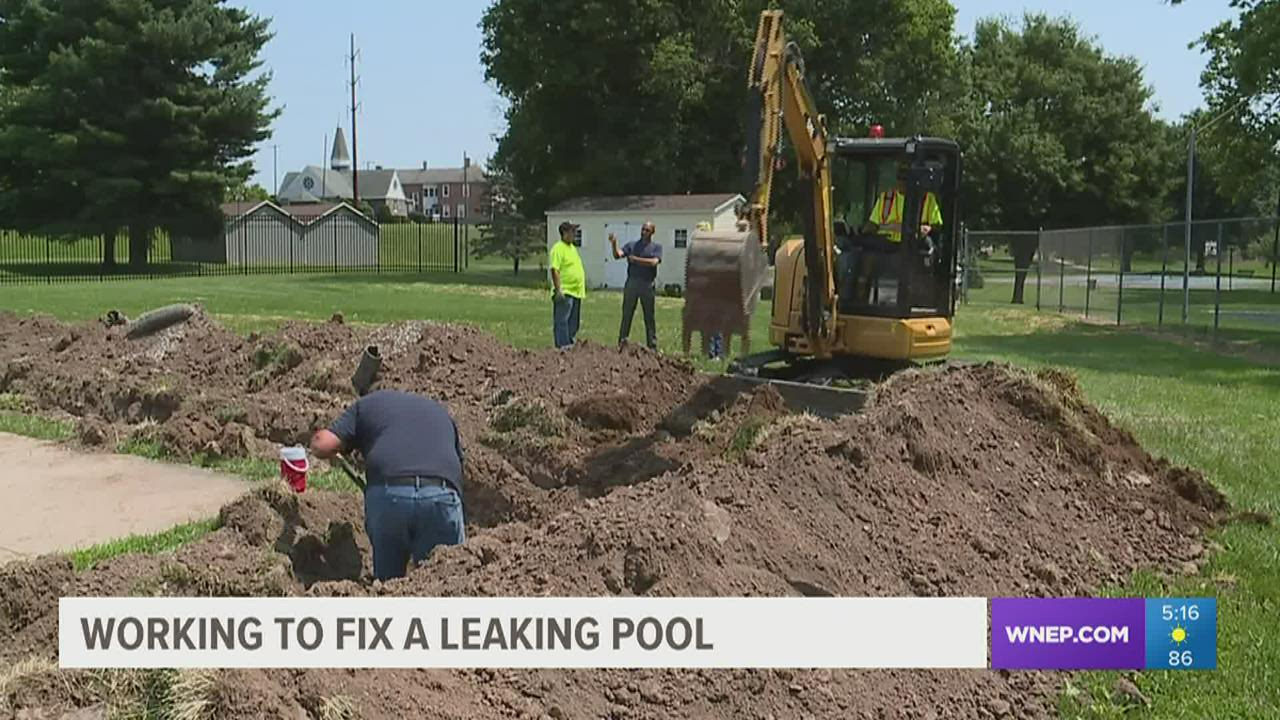 The city of Williamsport is looking for the leak at Memorial Pool