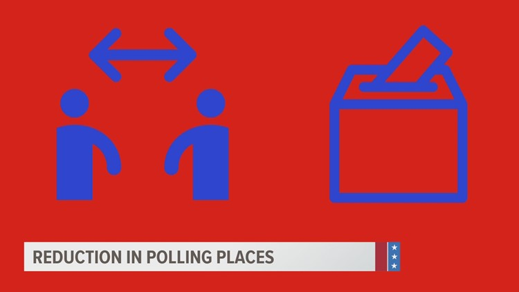 COVID-19 pandemic brings reduction in polling places on Election Day