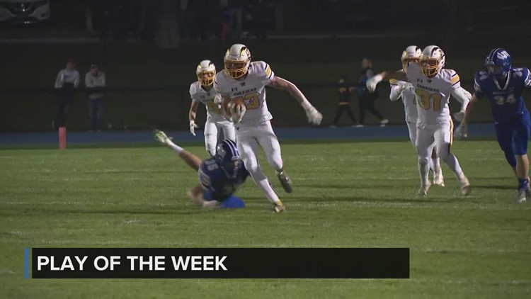 Wyckoff Heating & Cooling Play of the Week: Cayden Jensen takes the kickoff return to the house
