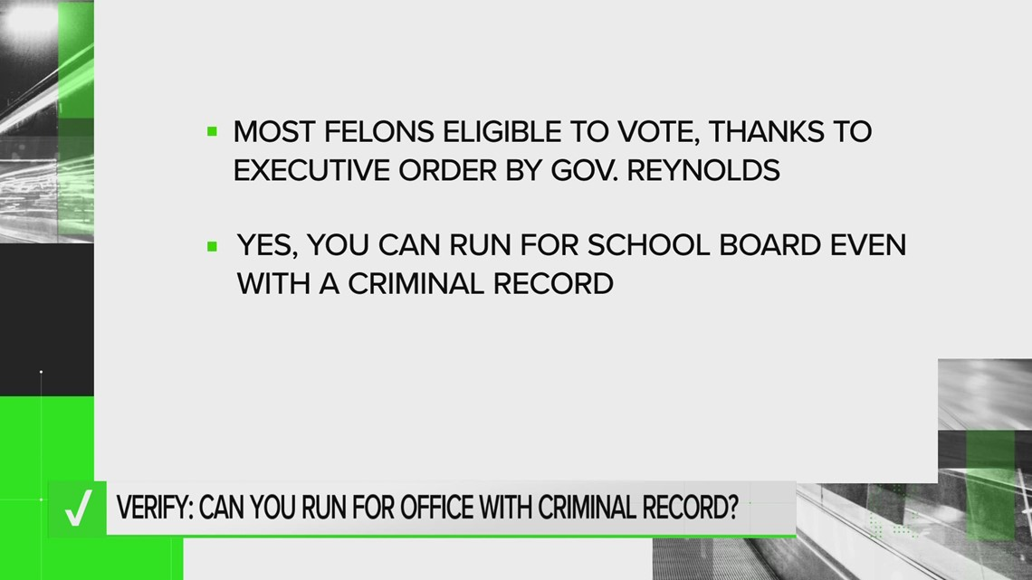 Yes, you can run for school board even with a criminal record